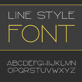 Vector linear font - simple and minimalistic alphabet in line style Stock Photography