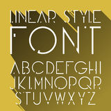 Vector linear font - simple and minimalistic alphabet in line style. Cosmic style. Stock Photo