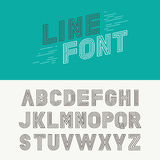 Vector linear font Royalty Free Stock Photo
