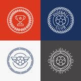 Vector linear football badge and emblems Royalty Free Stock Photos
