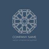 Vector linear geometric symbol Stock Photos