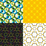 Vector linear hexagon seamless pattern design different honeycombs abstract geometric modern business technologies. Stock Photography