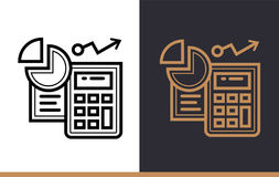 Vector linear icons ACCOUNTING of finance, banking. High quality. Premium quality modern icons for your design Stock Photo
