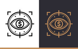 Vector linear icons FINANCIAL CONTROL of finance, banking. High. Premium quality modern icons for your design Stock Images