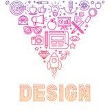 Vector linear logo design concept Royalty Free Stock Photography