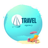 Vector linear logo for travel agency Stock Photography