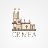 Vector linear symbol of Crimea Royalty Free Stock Images