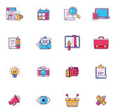 Vector linear universal web page symbols royalty free illustration