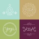 Vector linear yoga logo Stock Photography