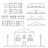 Vector Lineart House Generator Stock Images