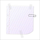 Vector Lined Paper Stock Photo