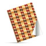 Vector linen fabric book. Vector linen and fabric book Royalty Free Stock Photography