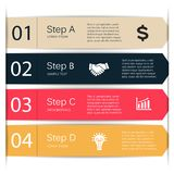 Vector lines arrows infographic, diagram, chart. Royalty Free Stock Image