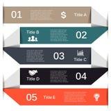 Vector lines arrows for infographic, diagram. Stock Photos