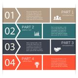 Vector lines arrows for infographic, diagram. Stock Photography