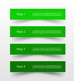 Vector lines arrows infographic. Green template for diagram, graph, presentation and chart. Business concept with 4 options, parts, steps or processes Stock Image