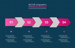 Vector lines arrows infographic. Stock Photos