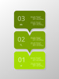 Vector lines arrows infographic. Royalty Free Stock Photos