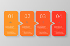Vector lines arrows infographic. Orange template for diagram, graph, presentation and chart. Business concept with 4 options, parts, steps or processes Stock Photo