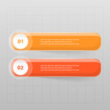 Vector lines arrows infographic. Orange template for diagram, graph, presentation and chart. Business concept with 2 options, parts, steps or processes Stock Photo