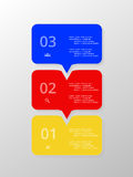 Vector lines arrows infographic. Stock Images