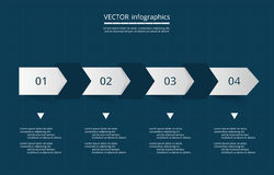 Vector lines arrows infographic. Royalty Free Stock Photography