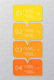 Vector lines arrows infographic. Royalty Free Stock Photo