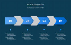 Vector lines arrows infographic. Template for diagram, graph, presentation and chart. Business concept with 4 options, parts, steps or processes Stock Image