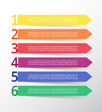Vector lines arrows infographic. Template for diagram, graph, presentation and chart. Business concept with 6 options, parts, steps or processes Royalty Free Stock Photo