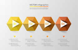 Vector lines arrows infographic. Vector arrows infographic. Template for diagram, graph, presentation and chart. Business concept with 4 options, parts, steps Stock Photo