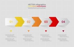 Vector lines arrows infographic. Stock Photo