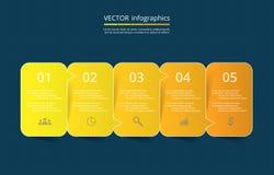 Vector lines arrows infographic. Stock Photos