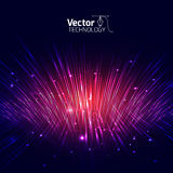 Vector lines equalizer 3D Royalty Free Stock Image