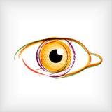 Vector lines eye vector concept Stock Image