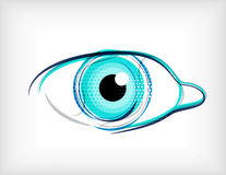 Vector lines eye vector concept Stock Images