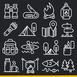 Vector lines icons pack collection Stock Photography