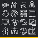 Vector lines icons pack collection Stock Images