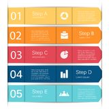 Vector lines infographic, diagram, presentation Royalty Free Stock Image