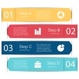 Vector lines infographic, diagram, presentation. Layout for your options or steps. Abstract template for background Royalty Free Stock Photography
