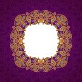 Vector a linha decorativa quadro da arte no estilo oriental Imagem de Stock Royalty Free