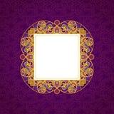 Vector a linha decorativa quadro da arte no estilo oriental Fotos de Stock Royalty Free