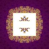 Vector a linha decorativa quadro da arte no estilo oriental Foto de Stock Royalty Free