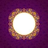 Vector a linha decorativa quadro da arte no estilo oriental Fotografia de Stock Royalty Free