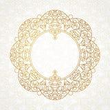 Vector a linha decorativa quadro da arte no estilo oriental Imagens de Stock Royalty Free