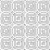 Vector a linha transversal redonda do fundo 043 sem emenda do teste padrão da arte do papel 3D do damasco Imagem de Stock Royalty Free