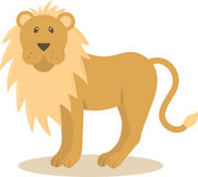 Vector lion. Vector illustration of looking lion Royalty Free Stock Photos