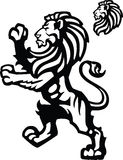 Lion Rampant mascot. Vector Lion Rampant for sports mascot or heraldic-themed imagery Stock Photo