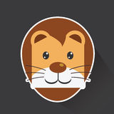 Vector of Lion in sticker style Stock Image