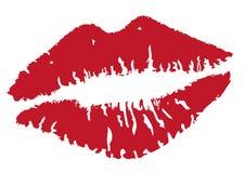 Vector lip kisses Royalty Free Stock Photo