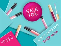 Vector Lipgloss Package Design Royalty Free Stock Photo